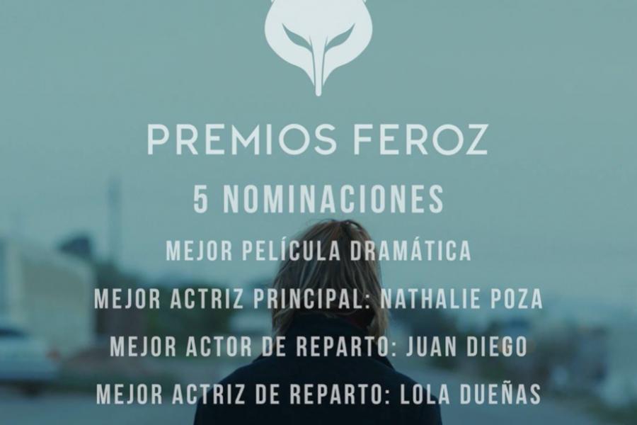 Nuestra película «No sé decir adiós» obtiene 5 nominaciones a los Premios Feroz